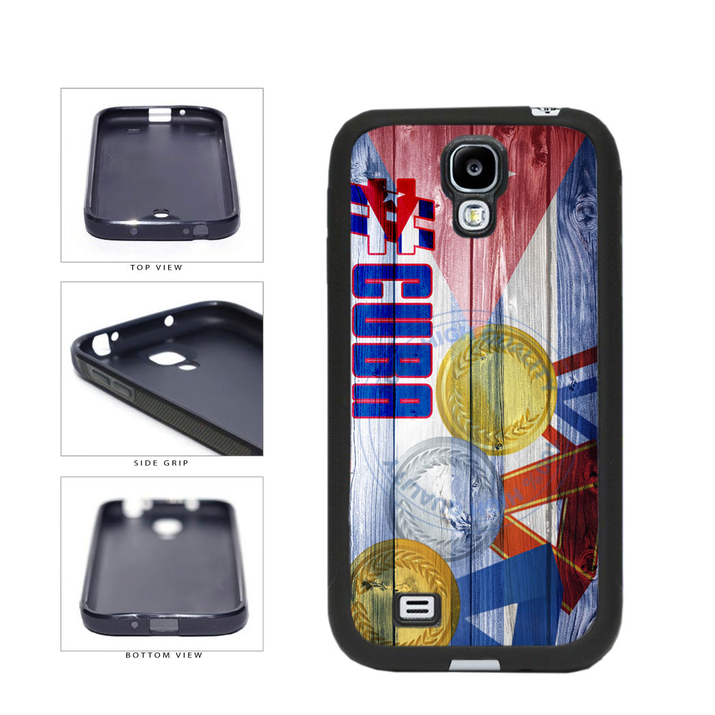 Sport Games Hashtag Team Cuba #Cuba TPU Rubber SILICONE Phone Case Back Cover For Samsung Galaxy S4 I9500 includes BleuReign(TM) Cloth and Warranty Label