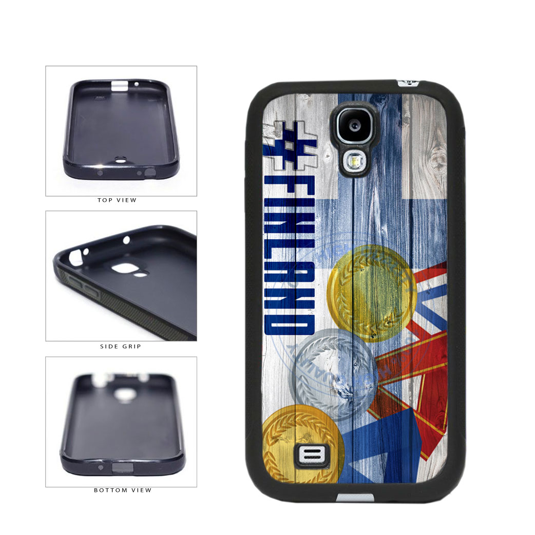 Sport Games Hashtag Team Finland #Finland TPU Rubber SILICONE Phone Case Back Cover For Samsung Galaxy S4 I9500 includes BleuReign(TM) Cloth and Warranty Label