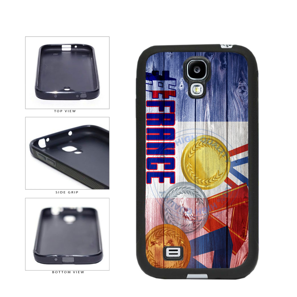Sport Games Hashtag Team France #France TPU Rubber SILICONE Phone Case Back Cover For Samsung Galaxy S4 I9500 includes BleuReign(TM) Cloth and Warranty Label