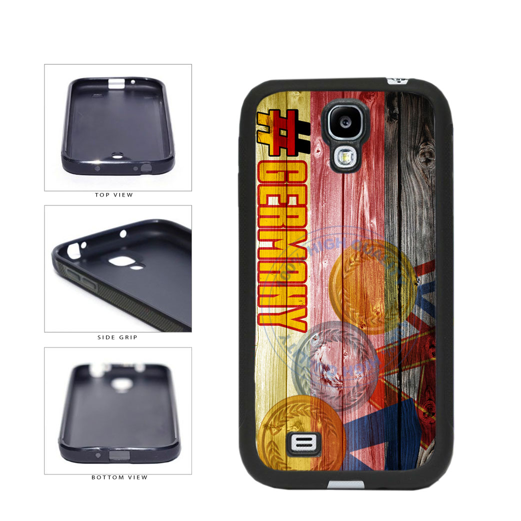 Sport Games Hashtag Team Germany #Germany TPU Rubber SILICONE Phone Case Back Cover For Samsung Galaxy S4 I9500 includes BleuReign(TM) Cloth and Warranty Label