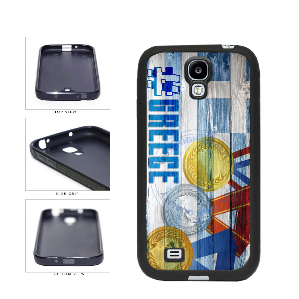 Sport Games Hashtag Team Greece #Greece TPU Rubber SILICONE Phone Case Back Cover For Samsung Galaxy S4 I9500 includes BleuReign(TM) Cloth and Warranty Label