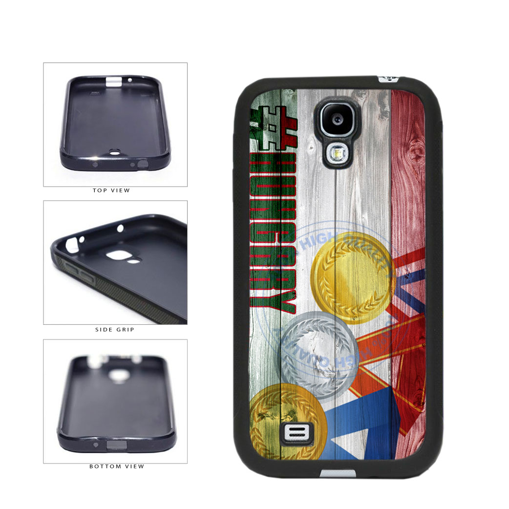 Sport Games Hashtag Team Hungary #Hungary TPU Rubber SILICONE Phone Case Back Cover For Samsung Galaxy S4 I9500 includes BleuReign(TM) Cloth and Warranty Label