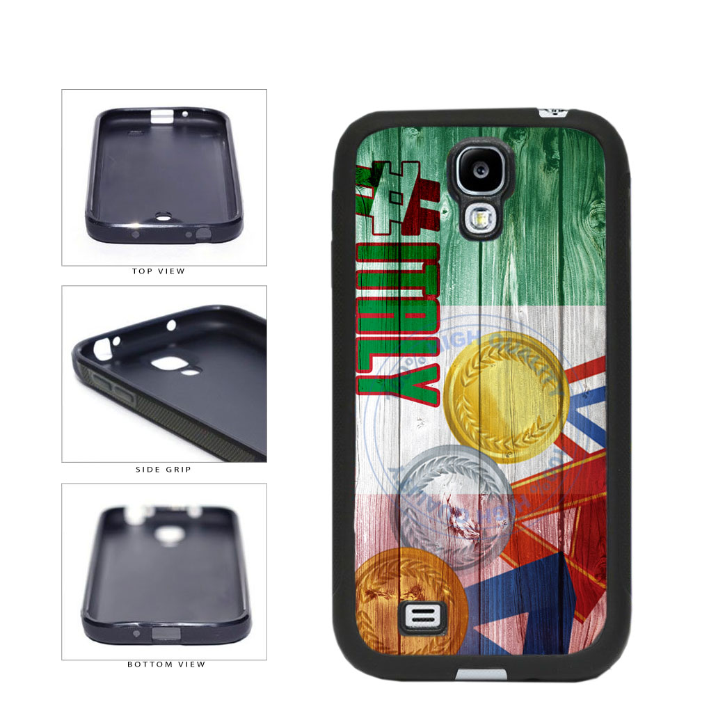 Sport Games Hashtag Team Italy #Italy TPU Rubber SILICONE Phone Case Back Cover For Samsung Galaxy S4 I9500 includes BleuReign(TM) Cloth and Warranty Label