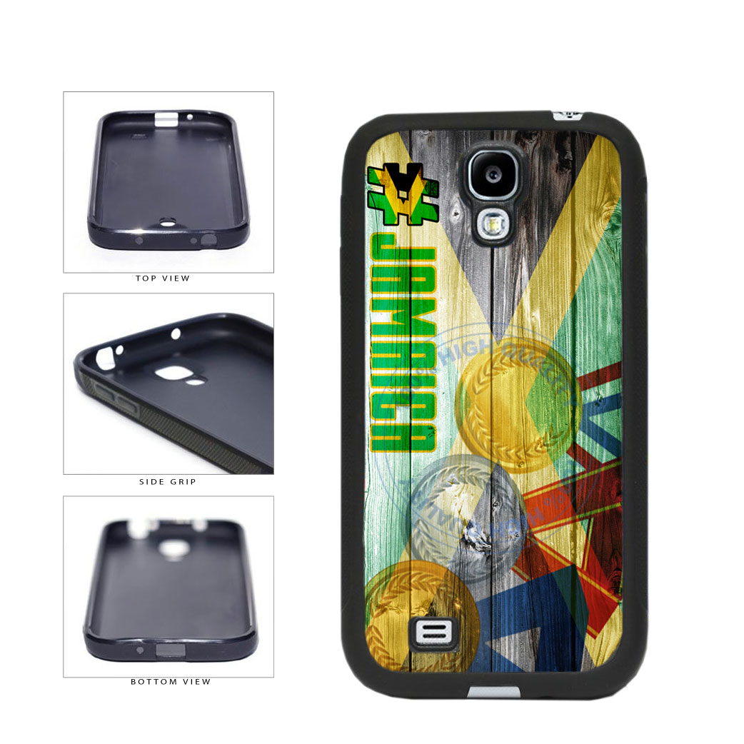 Sport Games Hashtag Team Jamaica #Jamacia TPU Rubber SILICONE Phone Case Back Cover For Samsung Galaxy S4 I9500 includes BleuReign(TM) Cloth and Warranty Label