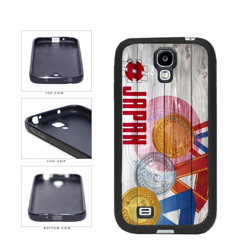 Sport Games Hashtag Team Japan #Japan TPU Rubber SILICONE Phone Case Back Cover For Samsung Galaxy S4 I9500 includes BleuReign(TM) Cloth and Warranty Label
