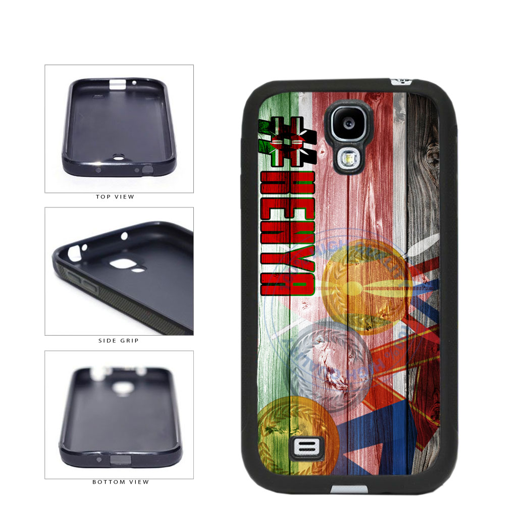 Sport Games Hashtag Team Kenya #Kenya TPU Rubber SILICONE Phone Case Back Cover For Samsung Galaxy S4 I9500 includes BleuReign(TM) Cloth and Warranty Label
