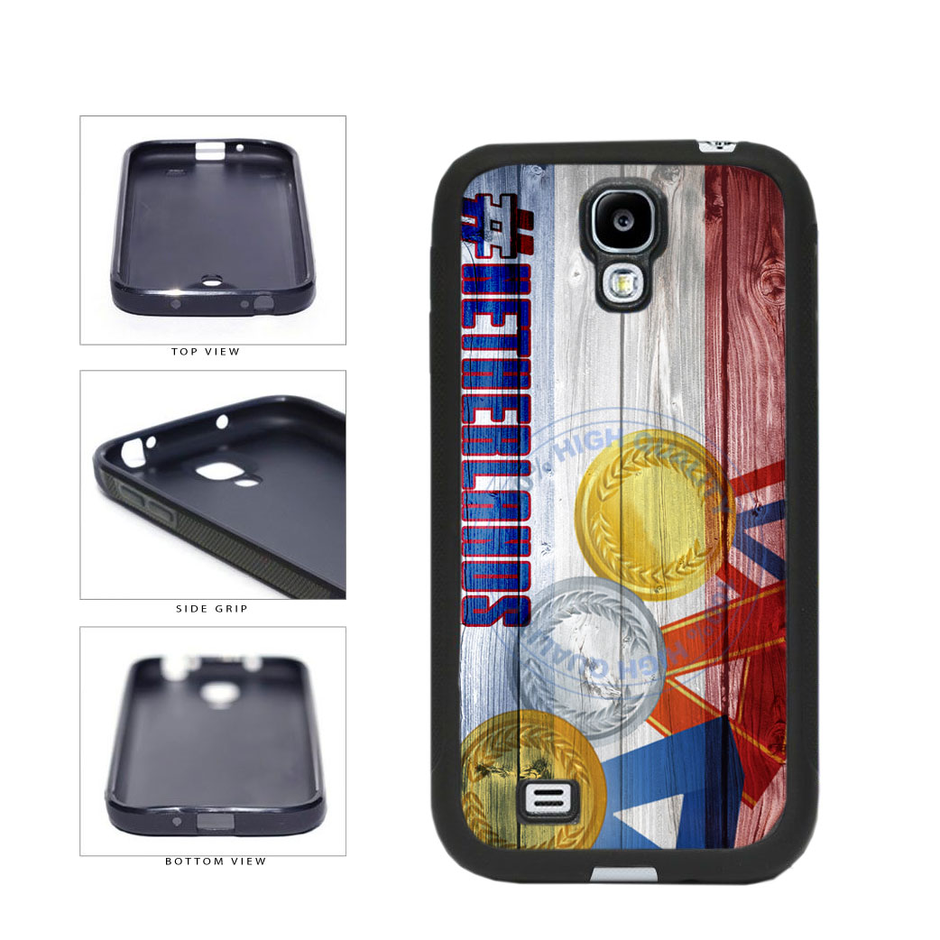 Sport Games Hashtag Team Netherlands #Netherlands TPU Rubber SILICONE Phone Case Back Cover For Samsung Galaxy S4 I9500 includes BleuReign(TM) Cloth and Warranty Label