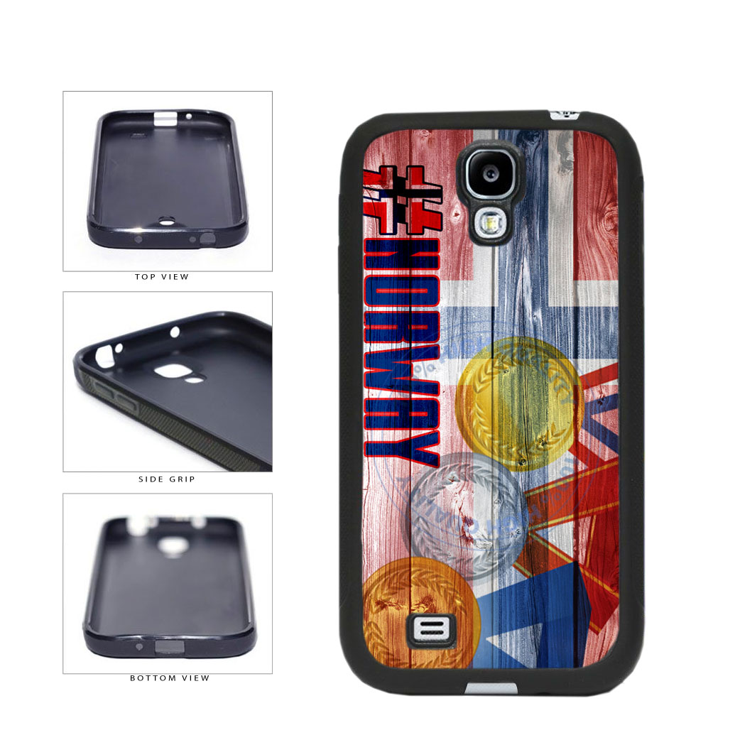 Sport Games Hashtag Team Norway #Norway TPU Rubber SILICONE Phone Case Back Cover For Samsung Galaxy S4 I9500 includes BleuReign(TM) Cloth and Warranty Label