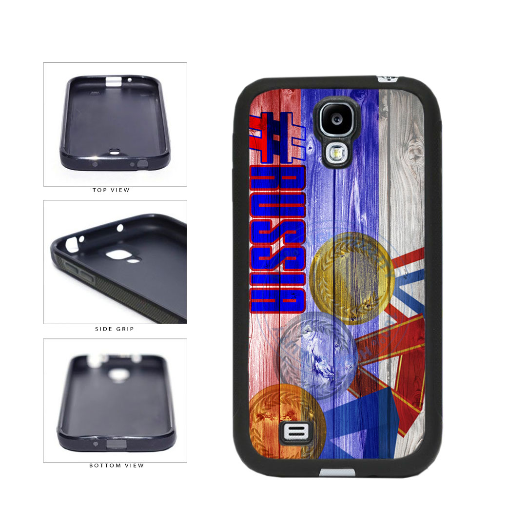 Sport Games Hashtag Team Russia #Russia TPU Rubber SILICONE Phone Case Back Cover For Samsung Galaxy S4 I9500 includes BleuReign(TM) Cloth and Warranty Label