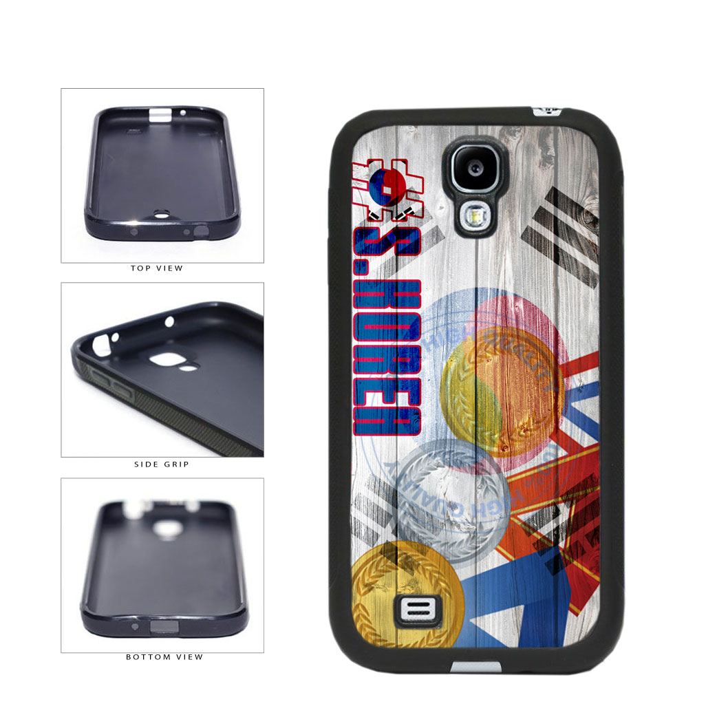 Sport Games Hashtag Team South Korea #SouthKorea TPU Rubber SILICONE Phone Case Back Cover For Samsung Galaxy S4 I9500 includes BleuReign(TM) Cloth and Warranty Label