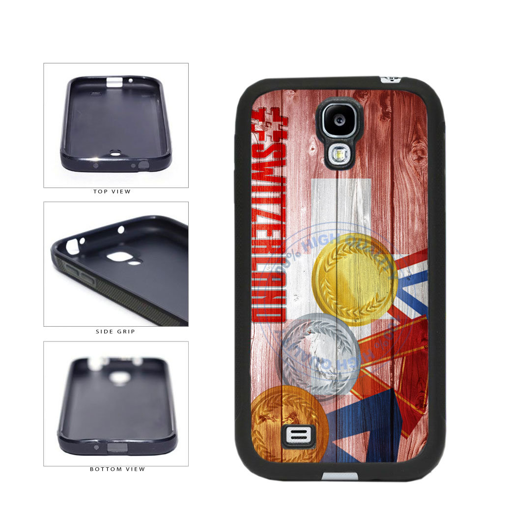 Sport Games Hashtag Team Switzerland #Switzerland TPU Rubber SILICONE Phone Case Back Cover For Samsung Galaxy S4 I9500 includes BleuReign(TM) Cloth and Warranty Label