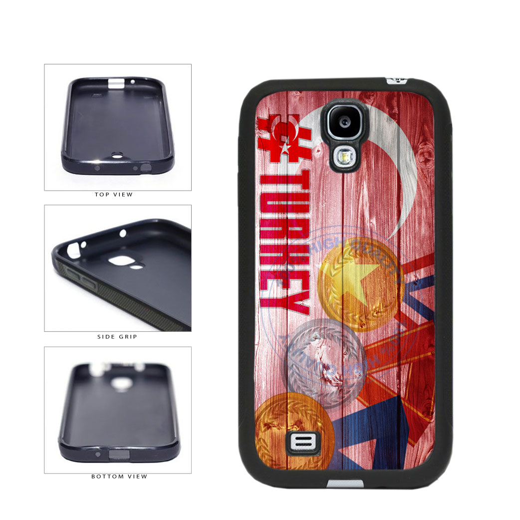 Sport Games Hashtag Team Turkey #Turkey TPU Rubber SILICONE Phone Case Back Cover For Samsung Galaxy S4 I9500 includes BleuReign(TM) Cloth and Warranty Label