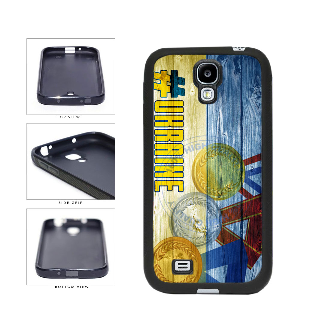 Sport Games Hashtag Team Ukraine #Ukraine TPU Rubber SILICONE Phone Case Back Cover For Samsung Galaxy S4 I9500 includes BleuReign(TM) Cloth and Warranty Label