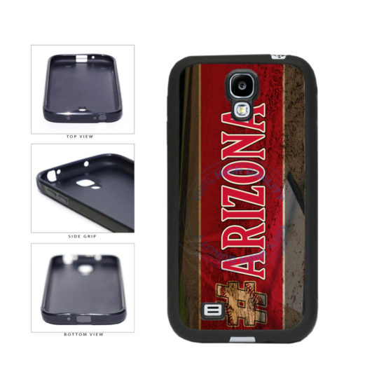 Hashtag Arizona #Arizona Baseball Team  TPU Rubber SILICONE Phone Case Back Cover For Samsung Galaxy S4 I9500 includes BleuReign(TM) Cloth and Warranty Label