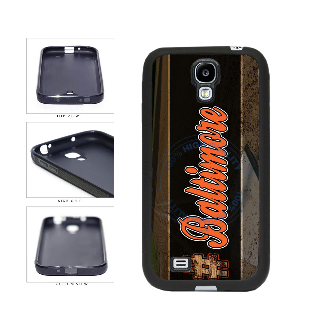 Hashtag Baltimore #Baltimore Baseball Team  TPU Rubber SILICONE Phone Case Back Cover For Samsung Galaxy S4 I9500 includes BleuReign(TM) Cloth and Warranty Label