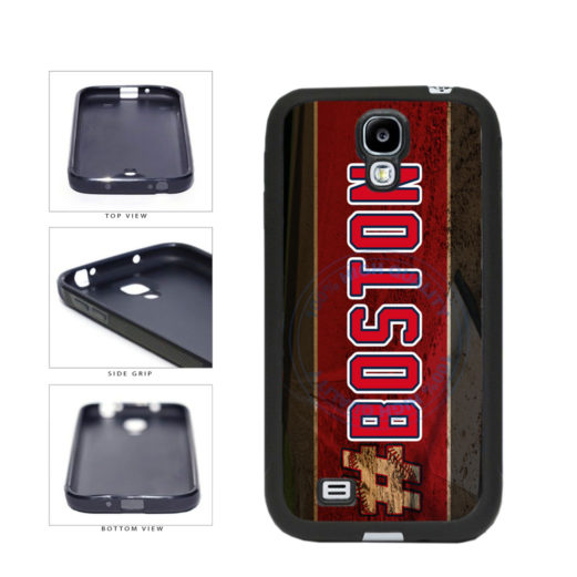 Hashtag Boston #Boston Baseball Team  TPU Rubber SILICONE Phone Case Back Cover For Samsung Galaxy S4 I9500 includes BleuReign(TM) Cloth and Warranty Label