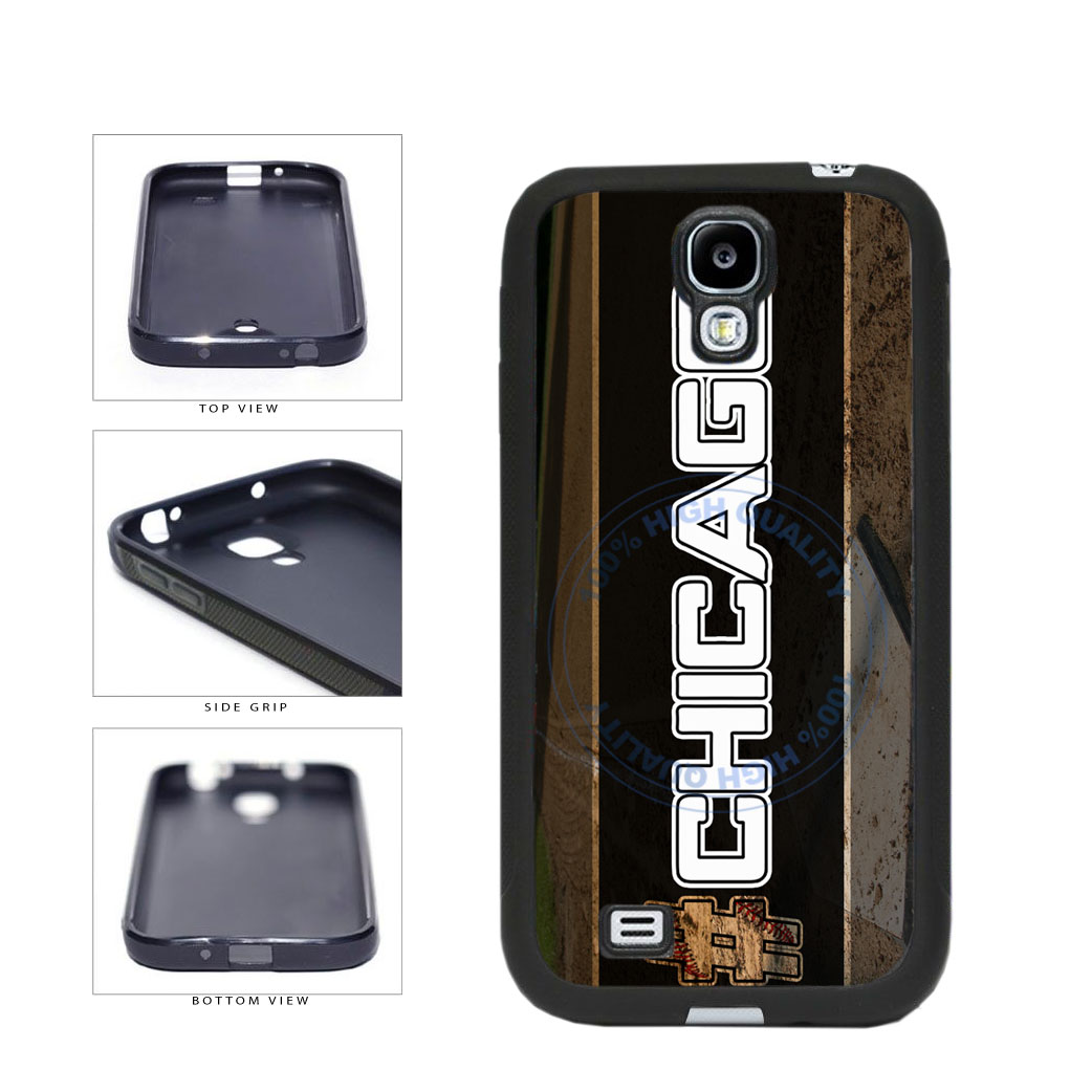 Hashtag Chicago #Chicago White Baseball Team  TPU Rubber SILICONE Phone Case Back Cover For Samsung Galaxy S4 I9500 includes BleuReign(TM) Cloth and Warranty Label