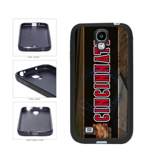Hashtag Cincinnati #Cincinnati Baseball Team  TPU Rubber SILICONE Phone Case Back Cover For Samsung Galaxy S4 I9500 includes BleuReign(TM) Cloth and Warranty Label