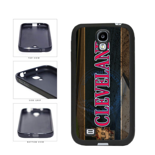 Hashtag Cleveland #Cleveland Baseball Team  TPU Rubber SILICONE Phone Case Back Cover For Samsung Galaxy S4 I9500 includes BleuReign(TM) Cloth and Warranty Label