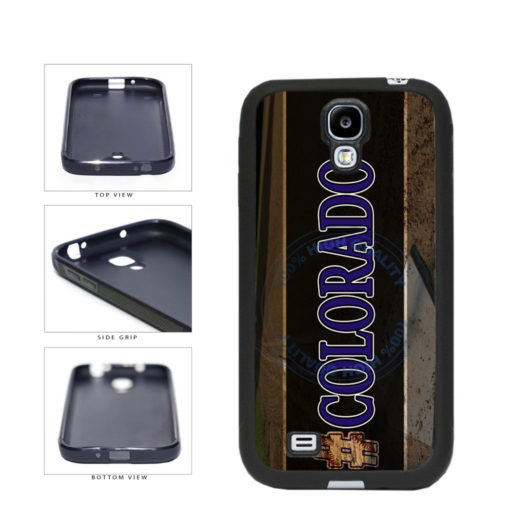 Hashtag Colorado #Colorado Baseball Team  TPU Rubber SILICONE Phone Case Back Cover For Samsung Galaxy S4 I9500 includes BleuReign(TM) Cloth and Warranty Label