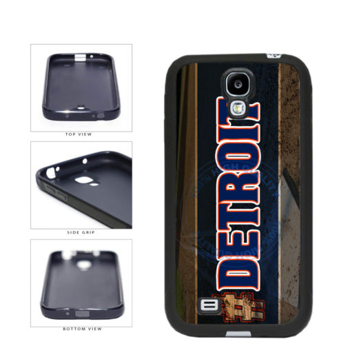 Hashtag Detroit #Detroit Baseball Team  TPU Rubber SILICONE Phone Case Back Cover For Samsung Galaxy S4 I9500 includes BleuReign(TM) Cloth and Warranty Label