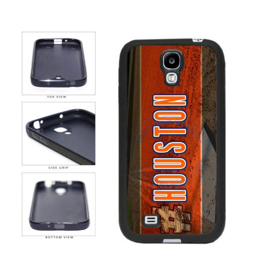 Hashtag Houston #Houston Baseball Team  TPU Rubber SILICONE Phone Case Back Cover For Samsung Galaxy S4 I9500 includes BleuReign(TM) Cloth and Warranty Label
