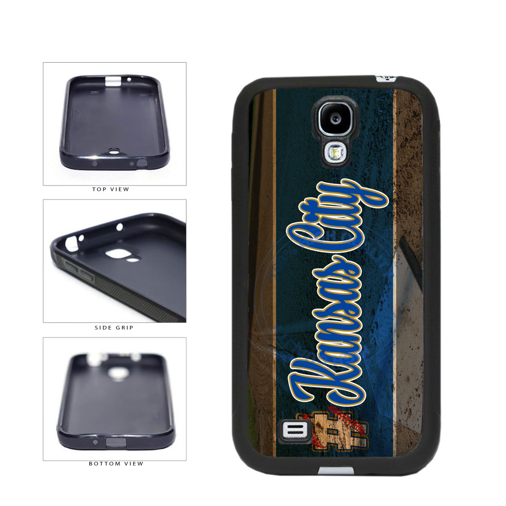 Hashtag Kansas City #KansasCity Baseball Team  TPU Rubber SILICONE Phone Case Back Cover For Samsung Galaxy S4 I9500 includes BleuReign(TM) Cloth and Warranty Label