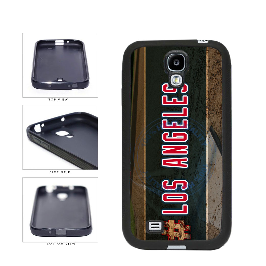 Hashtag Los Angeles #LosAngeles Anaheim Baseball Team TPU Rubber SILICONE Phone Case Back Cover For Samsung Galaxy S4 I9500 includes BleuReign(TM) Cloth and Warranty Label