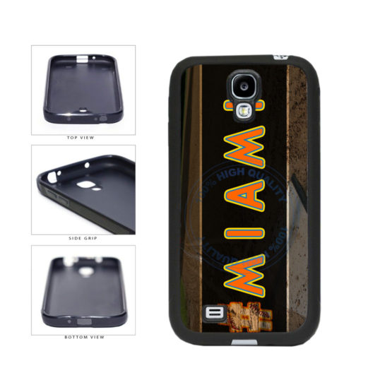Hashtag Miami #Miami Baseball Team  TPU Rubber SILICONE Phone Case Back Cover For Samsung Galaxy S4 I9500 includes BleuReign(TM) Cloth and Warranty Label