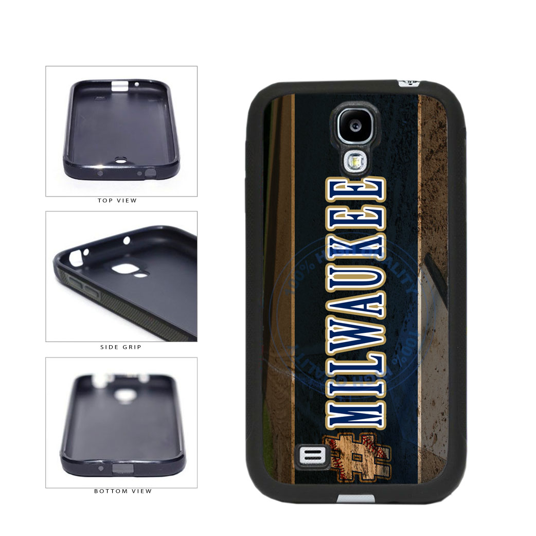 Hashtag Milwaukee #Milwaukee Baseball Team  TPU Rubber SILICONE Phone Case Back Cover For Samsung Galaxy S4 I9500 includes BleuReign(TM) Cloth and Warranty Label