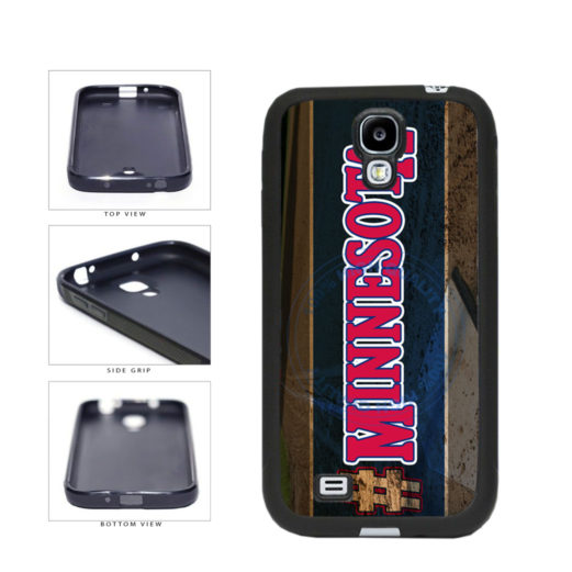 Hashtag Minnesota #Minnesota Baseball Team  TPU Rubber SILICONE Phone Case Back Cover For Samsung Galaxy S4 I9500 includes BleuReign(TM) Cloth and Warranty Label