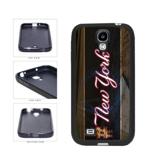 Hashtag New York #NewYork Blue Baseball Team  TPU Rubber SILICONE Phone Case Back Cover For Samsung Galaxy S4 I9500 includes BleuReign(TM) Cloth and Warranty Label