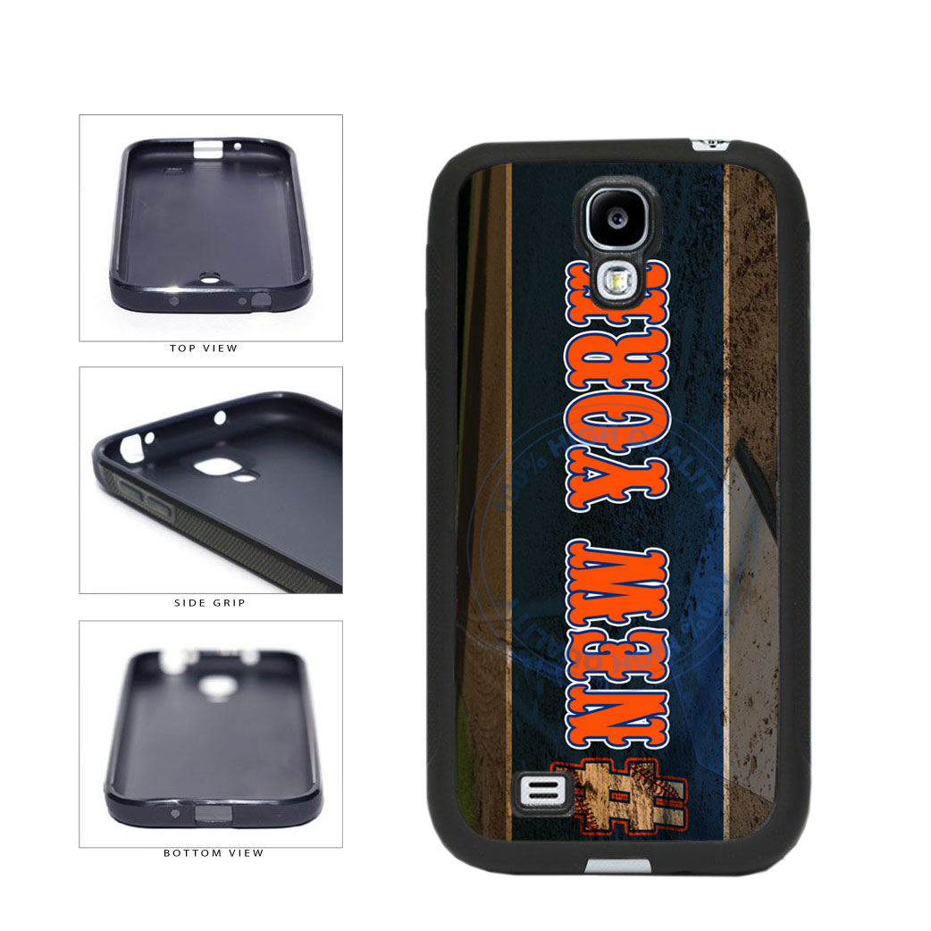 Hashtag New York #NewYork Orange Baseball Team  TPU Rubber SILICONE Phone Case Back Cover For Samsung Galaxy S4 I9500 includes BleuReign(TM) Cloth and Warranty Label