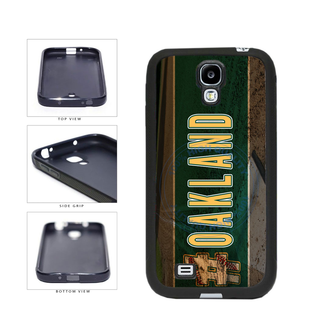 Hashtag Oakland #Oakland Baseball Team  TPU Rubber SILICONE Phone Case Back Cover For Samsung Galaxy S4 I9500 includes BleuReign(TM) Cloth and Warranty Label