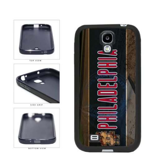 Hashtag Philadelphia #Philadelphia Baseball Team  TPU Rubber SILICONE Phone Case Back Cover For Samsung Galaxy S4 I9500 includes BleuReign(TM) Cloth and Warranty Label
