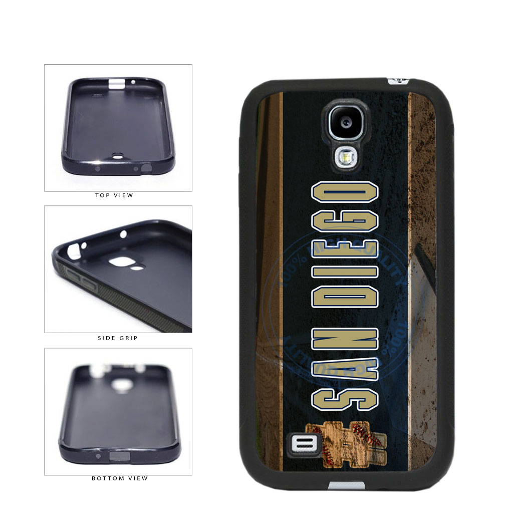 Hashtag San Diego #SanDiego Baseball Team  TPU Rubber SILICONE Phone Case Back Cover For Samsung Galaxy S4 I9500 includes BleuReign(TM) Cloth and Warranty Label