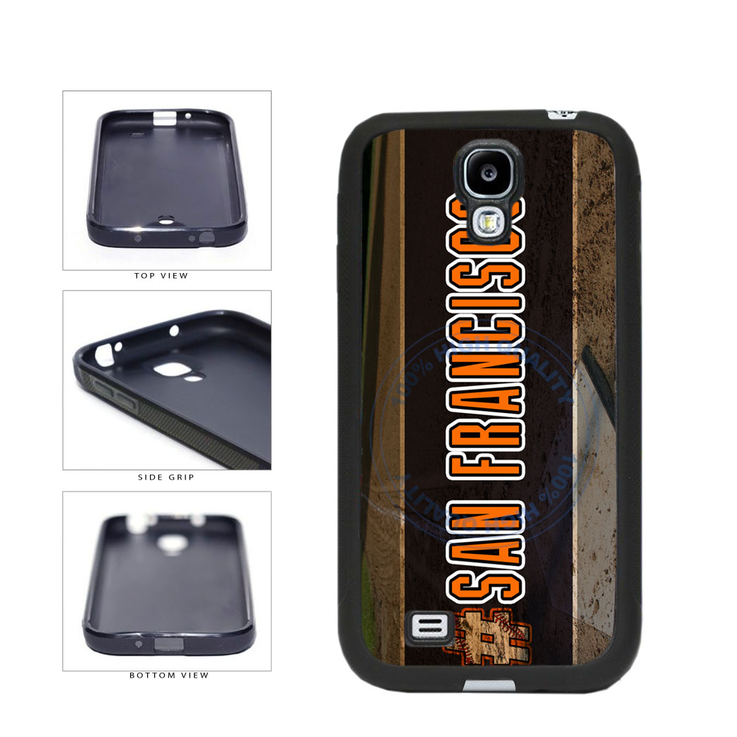 Hashtag San Francisco #SanFrancisco Baseball Team  TPU Rubber SILICONE Phone Case Back Cover For Samsung Galaxy S4 I9500 includes BleuReign(TM) Cloth and Warranty Label