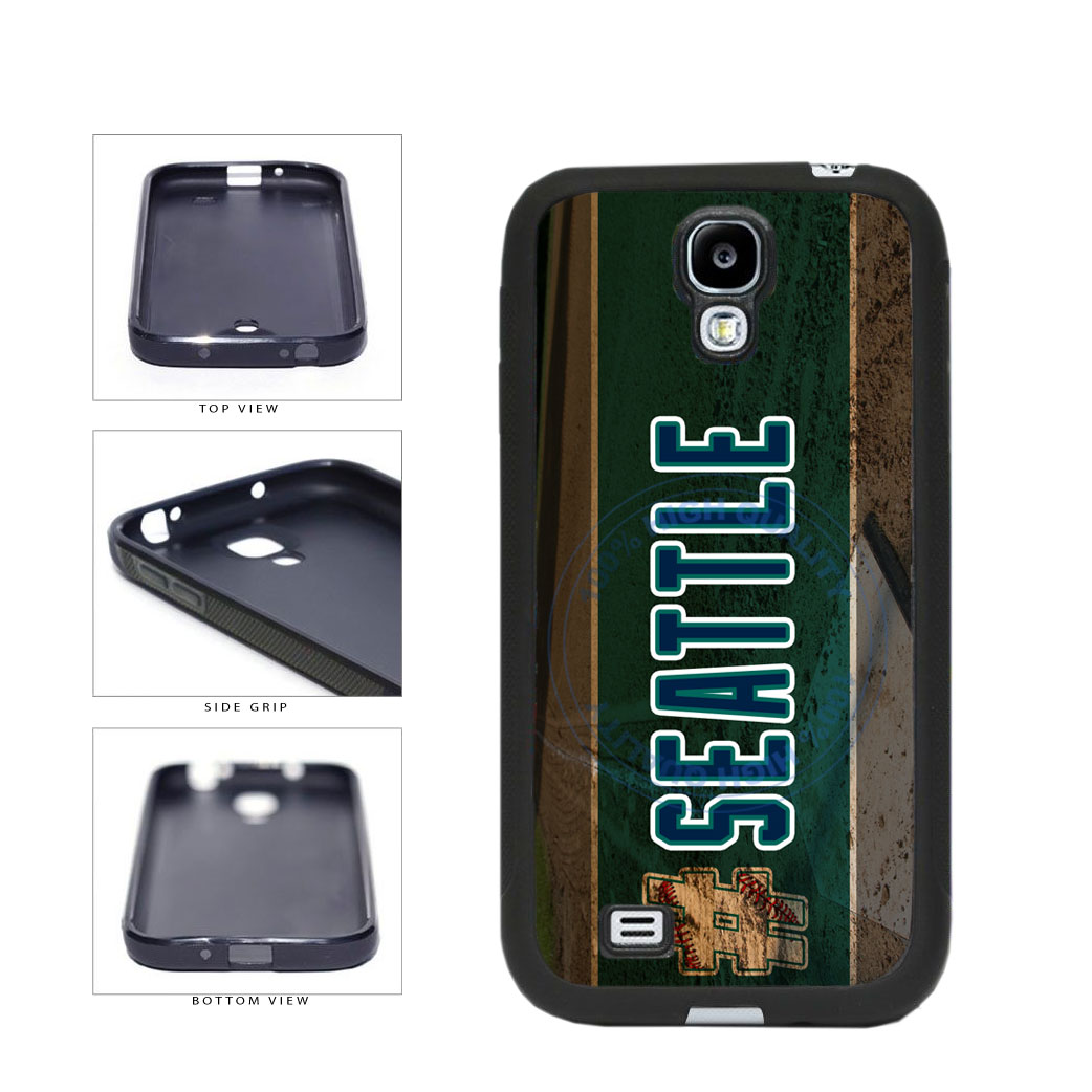 Hashtag Seattle #Seattle Baseball Team  TPU Rubber SILICONE Phone Case Back Cover For Samsung Galaxy S4 I9500 includes BleuReign(TM) Cloth and Warranty Label