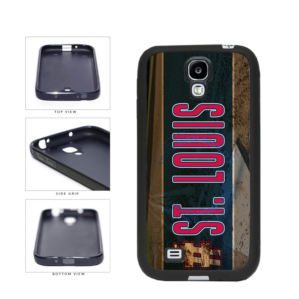 Hashtag St Louis #StLouis Baseball Team TPU Rubber SILICONE Phone Case Back Cover For Samsung Galaxy S4 I9500 includes BleuReign(TM) Cloth and Warranty Label