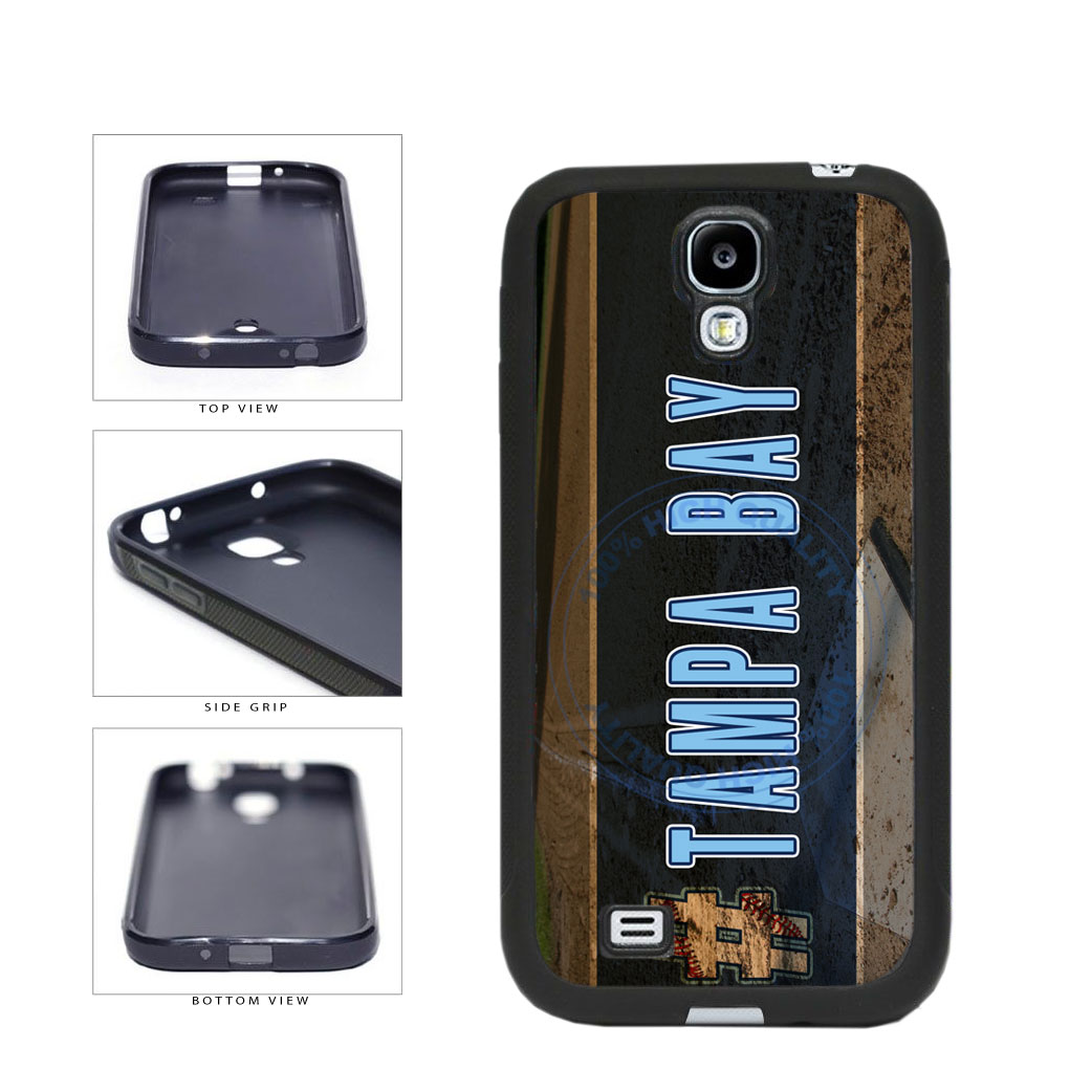 Hashtag Tampa Bay #TampaBay Baseball Team  TPU Rubber SILICONE Phone Case Back Cover For Samsung Galaxy S4 I9500 includes BleuReign(TM) Cloth and Warranty Label