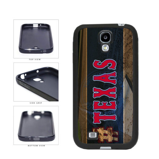 Hashtag Texas #Texas Baseball Team  TPU Rubber SILICONE Phone Case Back Cover For Samsung Galaxy S4 I9500 includes BleuReign(TM) Cloth and Warranty Label