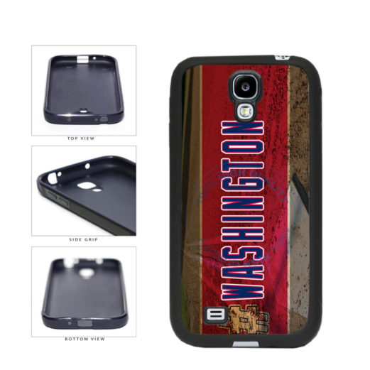 Hashtag Washington #Washington Baseball Team  TPU Rubber SILICONE Phone Case Back Cover For Samsung Galaxy S4 I9500 includes BleuReign(TM) Cloth and Warranty Label