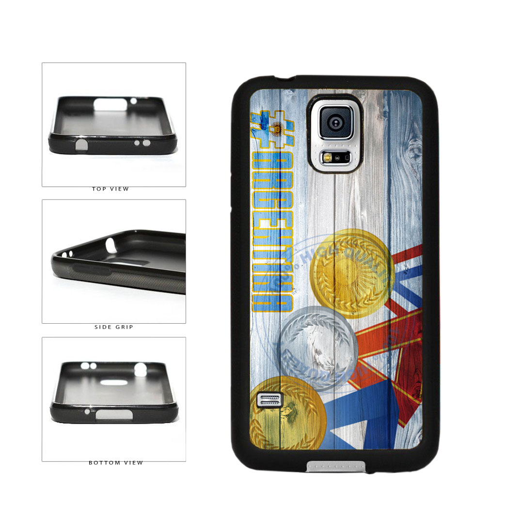 Sport Games Hashtag Team Argentina #Argentina TPU Rubber SILICONE Phone Case Back Cover For Samsung Galaxy S5 I9600 includes BleuReign(TM) Cloth and Warranty Label