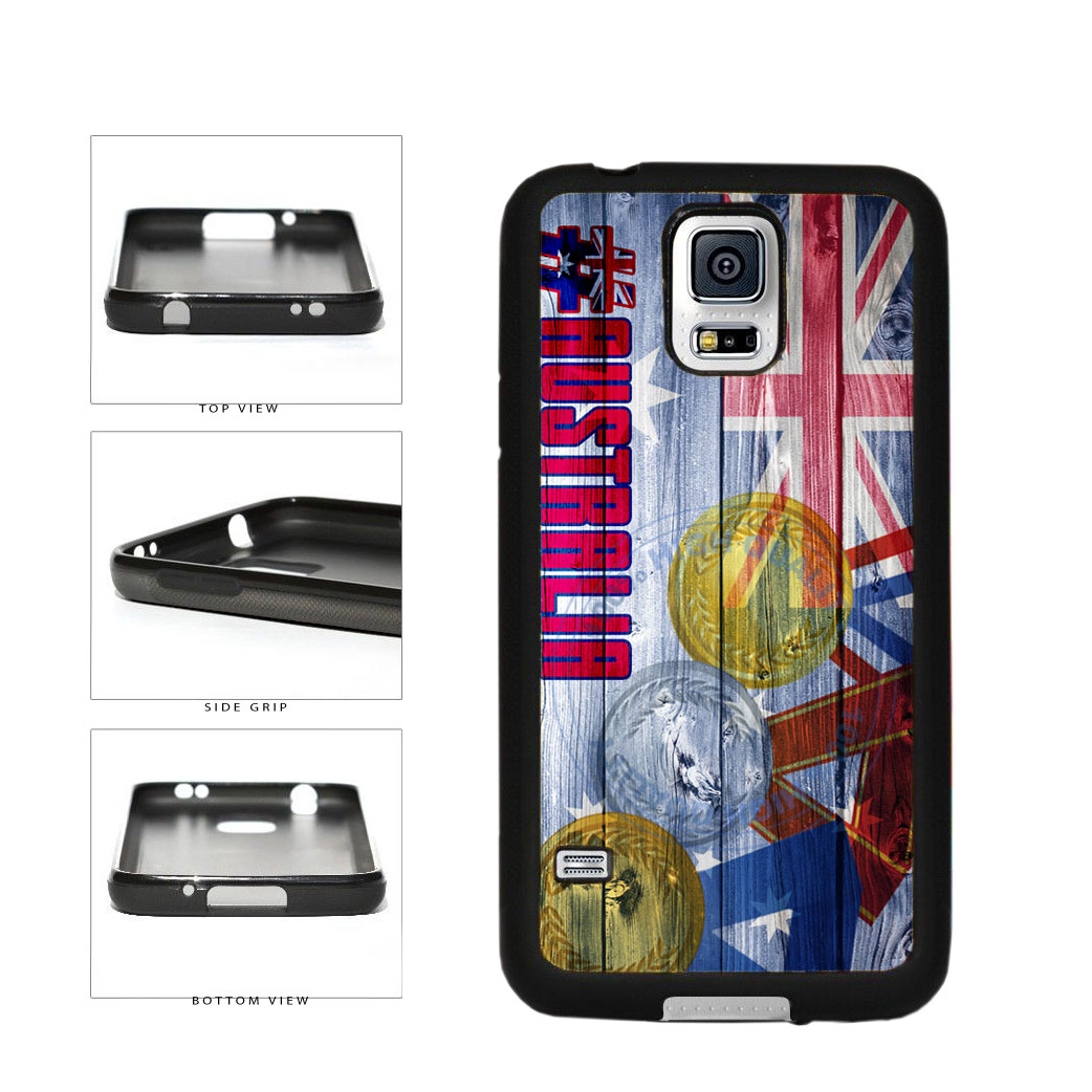 Sport Games Hashtag Team Australia #Australia TPU Rubber SILICONE Phone Case Back Cover For Samsung Galaxy S5 I9600 includes BleuReign(TM) Cloth and Warranty Label