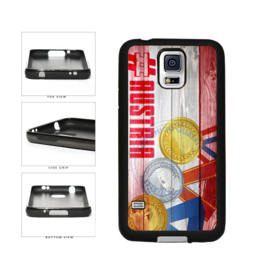 Sport Games Hashtag Team Austria #Austria TPU Rubber SILICONE Phone Case Back Cover For Samsung Galaxy S5 I9600 includes BleuReign(TM) Cloth and Warranty Label