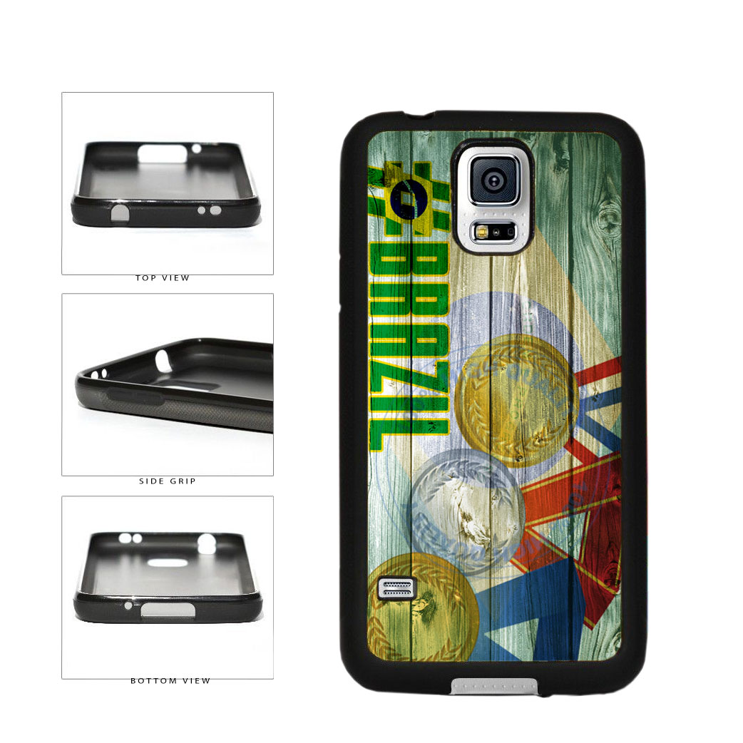 Sport Games Hashtag Team Brazil #Brazil TPU Rubber SILICONE Phone Case Back Cover For Samsung Galaxy S5 I9600 includes BleuReign(TM) Cloth and Warranty Label
