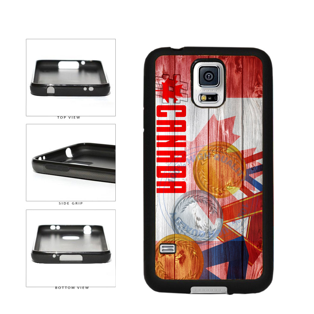 Sport Games Hashtag Team Canada #Canada TPU Rubber SILICONE Phone Case Back Cover For Samsung Galaxy S5 I9600 includes BleuReign(TM) Cloth and Warranty Label