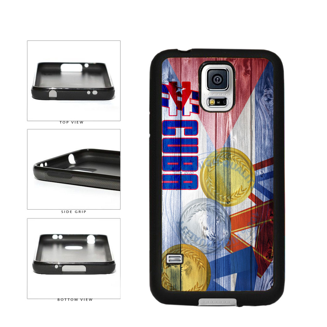 Sport Games Hashtag Team Cuba #Cuba TPU Rubber SILICONE Phone Case Back Cover For Samsung Galaxy S5 I9600 includes BleuReign(TM) Cloth and Warranty Label