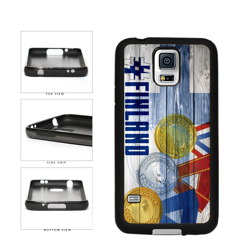 Sport Games Hashtag Team Finland #Finland TPU Rubber SILICONE Phone Case Back Cover For Samsung Galaxy S5 I9600 includes BleuReign(TM) Cloth and Warranty Label