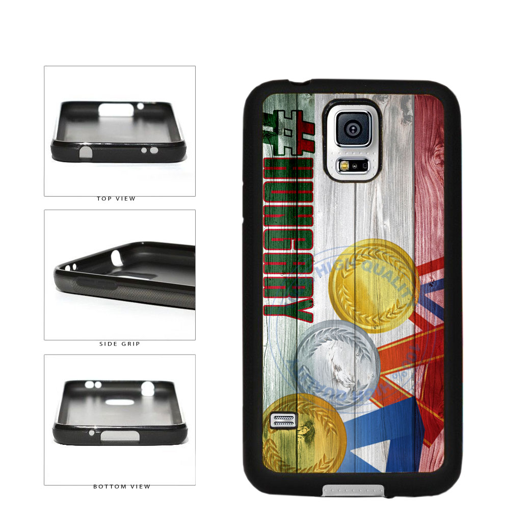 Sport Games Hashtag Team Hungary #Hungary TPU Rubber SILICONE Phone Case Back Cover For Samsung Galaxy S5 I9600 includes BleuReign(TM) Cloth and Warranty Label